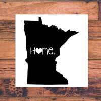 Minnesota Home Decal | Minnesota State Decal | Homestate Decals | Love Sticker | Love Decal  | Car Decal | Car Stickers | 063