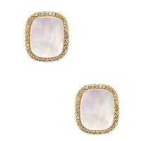 Kate Spade Madison Ave. Collection Empire Pave Studs Cream ONE