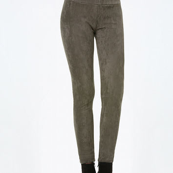 FAUX SUEDE HIGH LEGGINGS