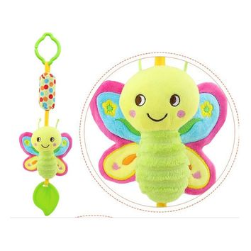 Baby Rattles & Mobiles With Teether Toys Bird/Butterfly/Owl/Chicken Animals Dolls Stroller Crib Hanging Wind Chimes