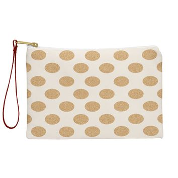 Allyson Johnson Gold Dots Pouch