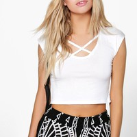 Brooke Cross Front Strappy Crop