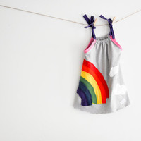 80's Rainbow Beach Custom order, not yet made, from reclaimed stretch knit tee shirts,tshirts, teeshirts Girls size 12 months to 7 years