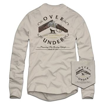Long Sleeve Custom Built T-Shirt in Oyster by Over Under Clothing