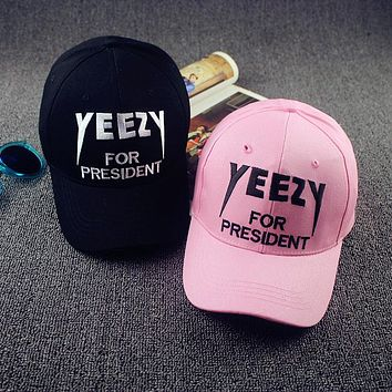 Hot Selling Unisex Yeezus Cap Hat Yeezy Boost 350 750 Duck Snapback Baseball Cap Embro
