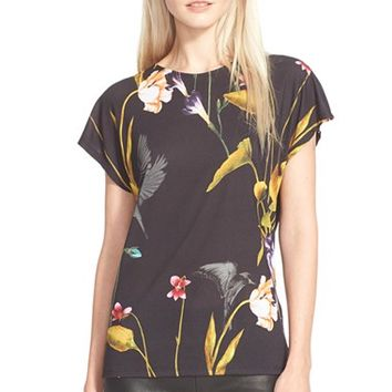 Women's Ted Baker London 'Zennia' Floral Print Tee,