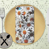 Daisy Bush Collage Flower Cute Vintage Tumblr Inspired Custom Rubber Case iPod 5th Generation and Plastic Case For The iPod 4th Generation
