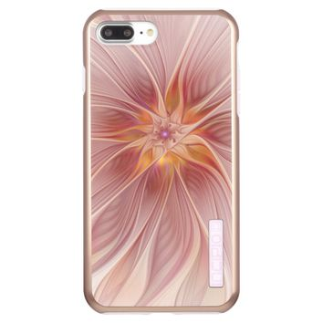 Soft Pink Floral Dream Abstract Modern Flower Incipio DualPro Shine iPhone 7 Plus Case