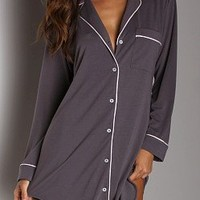 Eberjey Prima Ballerina Sleep Shirt Pebble