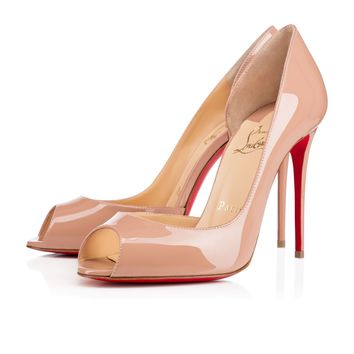 Demi You 100mm Nude Patent Leather