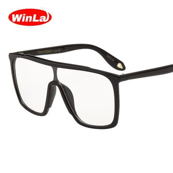 Winla Vintage Square Optical Glasses Original Brand Designer Plain Lens Fashion Big Frame Clear Lens Unisex Eyeglasses WL1054
