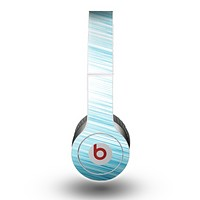 The Bright Diagonal Blue Streaks Skin for the Beats by Dre Original Solo-Solo HD Headphones