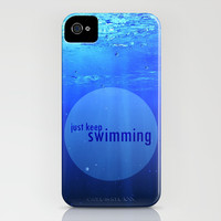 JUST KEEP SWIMMING iPhone & iPod Case by Marvin Fly