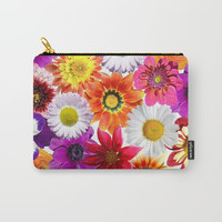 Colorful Spring Flowers Carry-All Pouch by Smyrna