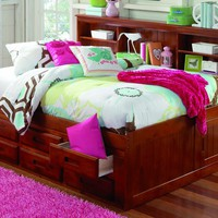 Grace Full Daybed with Bookcase Headboard and Six Storage Drawers