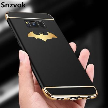 Batman Dark Knight gift Christmas Snzvok 3D Batman Wings 3 in 1 PC Case for Samsung S6 S7 edge S8 S9 plus Luxury cover for Galaxy A5 A6 A7 A8 J4 J6 2018 Note 8 5 AT_71_6