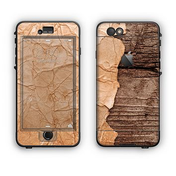 The Vintage Paper-Wrapped Wood Planks Apple iPhone 6 LifeProof Nuud Case Skin Set