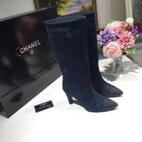 CHANEL Women Fashion Naked Martin Pointed Boots Shoes