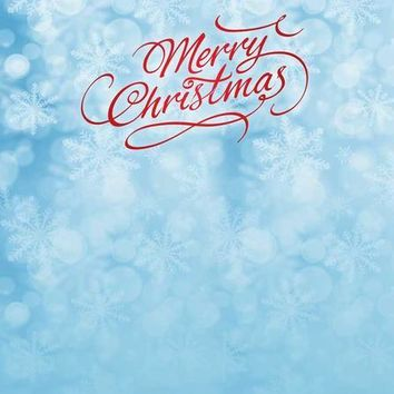 MERRY CHRISTMAS SNOW BLUE BACKDROP - 3118- 8x10 - LCTC3118 Last Call