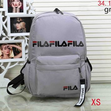FILA 2018 new men and women with the same paragraph fashion wild shoulder bag F-XS-PJ-BB grey