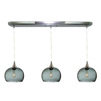 Lunar 3 Pendant Linear Chandelier: Form No. 767