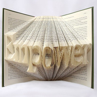 Personalized Name/Word Folded Book Art - Book Sculpture - Wedding Gift - Anniversary Gift - Gifts for Book Lovers - Paper Art - Folded Book