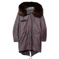 Leather Fishtail Parka