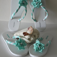 Flip Flops Mommy and Daughter, Bridesmaids, Flower Girls Flip Flops, Flower Flip Flops, Decorated Flip Flops