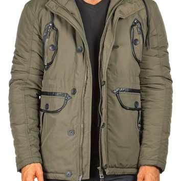 174202 - Green Hooded Field Jacket