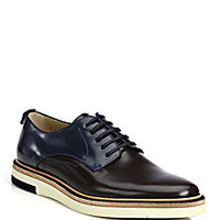 Fendi - Colorblocked Leather Lace-Up Hunting Shoes <br> - Saks Fifth Avenue Mobile