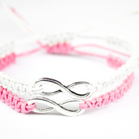 Infinity Friendship Bracelets Pink and White