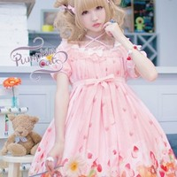 Pumpkin Cat -Spun Sugar Rabbit- Lolita OP Dress