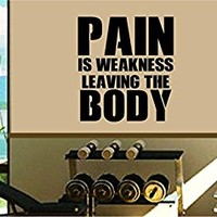 Dabbledown Pain is Weakness Leaving the Body Window Lettering Decal Sticker Decals Stickers