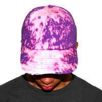 Vintage Culture Purple Bleached Washed Distressed Dad Cap