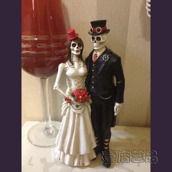 Skull Skulls Halloween Fall Home Furnishing Decor  Bride And Groom Halloween Gift Souvenir Calavera
