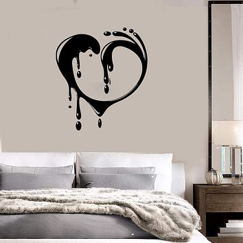 Vinyl Decal Romantic Love Heart Great Bedroom Decor Wall Stickers Unique Gift (ig669)