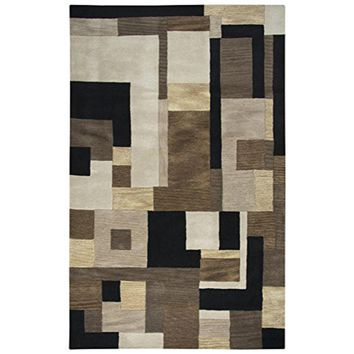 Rizzy Rugs CF-0786 8-Foot-by-10-Foot Craft Area Rug, Modern Black By Rizzy Home