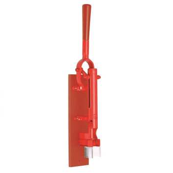 Professional Wall-mounted Corkscrew with Wood Backing BOJ (Red)