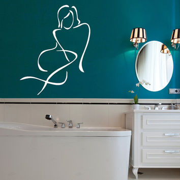 Woman Silhouette Wall Decal Girl Vinyl Stickers Spa Art Beauty Salon Decor Bathroom Interior Design Living Room Decor Black Friday Sale KY64