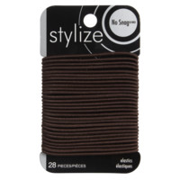 Stylize no Snag Elastics Brown 28 Pieces