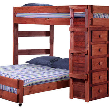 Henderson Extra Long Full over Full Storage Loft Bed