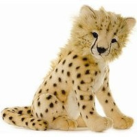 Hansa Cheetah Cub Stuffed Plush Animal, Sitting