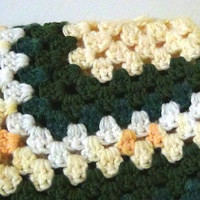Granny Square Afghan - Sunny Yellow Garden Lapghan