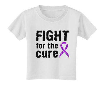 Fight for the Cure - Purple Ribbon Epilepsy Toddler T-Shirt