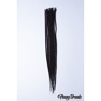 Chocolate Brown U-Tip Synthetic Dreadlocks (10 pieces)