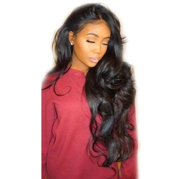 Glue-less  Lace Front Peruvian Side Part Pre Plucked Human Wig