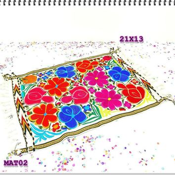 Wedding Decor,Engagement party, Fiesta decoration, Center Piece, Mexican Embroidered Fabric.