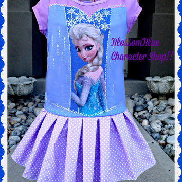 girls FROZEN Dress Elsa Birthday dress sizes 4 5 6 and 6X ready to ship today