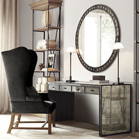 Palazzo Antiqued-Glass Round Mirrors