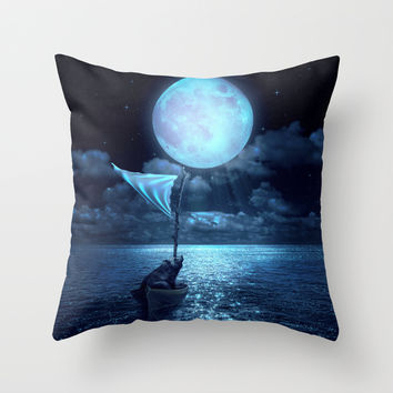 Set Adrift Throw Pillow by Soaring Anchor Designs   Society6